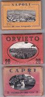 3 CARNET - 60 Views - Capri / Orvieto / Napoli (Italy) - Italie