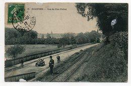 CHARTRES --1912--Vue Du Clos Pichot  ( Animée ,cyclo, Voiture , Voie Ferrée )  ....pas Très Courante.........à Saisir - Chartres