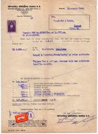 12.07.1944. WWII, NDH, ZAGREB, HRVATSKA UDRUZENA BANKA, CROATIAN COOPERATIVE BANK, 1 REVENUE STAMP - Croatia