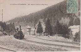 CPA Gare Du Lioran Et Puy Griou (avec Train) - Autres Communes