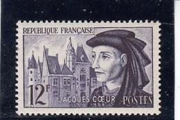 France - 1955 - N° YT 1034** - Jacques Coeur - France