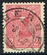 1907. Kong Haakon VII. 16 X 20 Mm. Die A. 2 Kr. Red. Issued: 62 800 Stk. BERGEN 8. V ... (Michel 69) - JF154679 - Norway