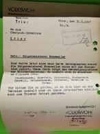 Volkswoh Trier, Oberpost-Direktion 1947. Franz. Zone - Zone Française