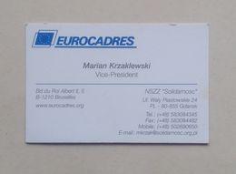 Poland Pologne Marian Krzaklewski Politician Trade Union Activist Politicien Syndycaliste Visiting Card Carte De Visite - Visitenkarten