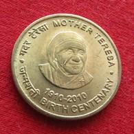 India 5 Rupees 2010  Mother Teresa   Inde Indie UNCºº - Inde