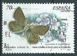 SPANIEN ESPAGNE SPAIN ESPAÑA 2000 BUTTERFLY - FLOWER 70 PTAS USED ED 3695 YT 3262 MI 3528 SG 3634 SC 3024 - 1931-Heute: 2. Rep. - ... Juan Carlos I