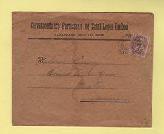 Type Blanc - 2c Seul Enveloppe A En Tete De La Correspondance Paroissiale De Saint Leger - Yonne - 16-4-1930 - 1877-1920: Période Semi Moderne