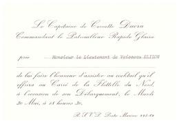 LE CAPITAINE DE CORVETTE DUCRU COMMT LE PATROUILLEUR RAPIDE GLAIVE - Documents