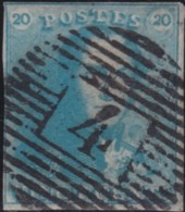 Belgie     .    OBP        .    2b   (2 Scans)     .       O      .        Gebruikt  .   /   .  Oblitéré - 1849 Epaulettes