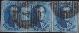 Belgie     .    OBP        .    11 3x   (2 Scans)     .       O      .        Gebruikt  .   /   .  Oblitéré - 1858-1862 Medaillen (9/12)