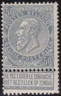 Belgie     .    OBP        .    63  (2 Scans)     .      *    .     Ongebruikt Met Gom  .   /   . Neuf Avec Gomme - 1893-1900 Schmaler Bart