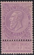 Belgie     .    OBP        .    66  (2 Scans)     .      *    .     Ongebruikt Met Gom  .   /   . Neuf Avec Gomme - 1893-1900 Schmaler Bart