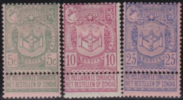 Belgie     .    OBP        .    68/70    .      *    .     Ongebruikt Met Gom  .   /   . Neuf Avec Gomme - 1893-1907 Coat Of Arms