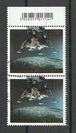 Deutschland 2019 Michel 3479 Bl. 84  50 Jahre Mondlandung Raumfahrt Space As Pair O - Raumfahrt