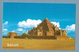 "19 - Birmanie - Temple "" DHAMMA YAN GYI "" - Bagan- ( Carte écrite ) - Myanmar (Burma)"