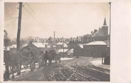 CARTE PHOTO ALLEMANDE TRELON 1917 Sous La Neige - Frankrijk