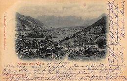 Switzerland Gruss Aus Chur 1899 Postcard - Switzerland