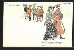 Künstler-AK Nikolaus II. Von Russland Bei Der Haager Friedenskonferenz 1899 - Königshäuser