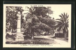AK Grasse, Le Jardin Public-Buste De Fragonard, 2.Exposition Philatèlique Règionale, Ausstellung 1932 - Francobolli (rappresentazioni)