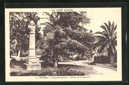 AK Grasse, Le Jardin Public - Buste De Fragonard, 2.Exposition Philatèlique Règionale, Ausstellung 1932 - Francobolli (rappresentazioni)