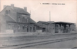 Gares -SOLESMES --Nord- Interieur De La Gare -  -NON CIRCULÉE - Gares - Sans Trains