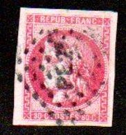 """FRANCE  - N° 49  -  Obl AMBULANT     PE 2°   """"PARIS EVIAN - 1870 Ausgabe Bordeaux"""