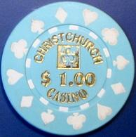 $1 Casino Chip. Christchurch Casino, Christchurch, New Zealand. S19. - Casino