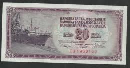 1978 Yugoslavia 20 Dinara Banknote UNC 1 Piece Ship - Jugoslawien