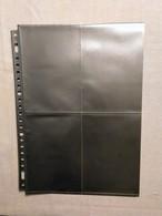 43 Inlegbladen Fotex Voor Postkaarten - Formaat DIN A4 - Recto-verso 4 + 4 Vaks - Matériel