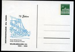 Bund PP43 C2/007 WILHELMSHAVEN KAISER-WILHELM-BRÜCKE 1968  NGK 10,00 € - BRD