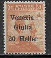 Italy Occupation Austria Scott # N32 MNH Italy Stamp Surcharged, 1918 - Austrian Occupation