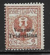Italy Occupation Austria Scott # N53 Mint Hinged Italy Stamp Surcharged, 1918 - Austrian Occupation