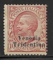 Italy Occupation Austria Scott # N55 Mint Hinged Italy Stamp Surcharged, 1918 - Austrian Occupation
