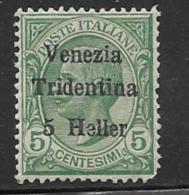 Italy Occupation Austria Scott # N61 MNH Italy Stamp, Surcharged, 1918, Round Corner - Austrian Occupation
