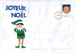 "Env. ""Pére Noël 2019 ""ayant Circulée Mais Non Ouverte (Format 162 X 229 Mm) - Biglietto Postale"