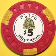 $5 Casino Chip. Cairo Sheraton, Cairo, Egypt. S20. - Casino