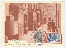 FRANCE - Carte Fédérale - Journée Du Timbre 1979 (Hotel Des Postes) - 57 SARRALBE - Journée Du Timbre