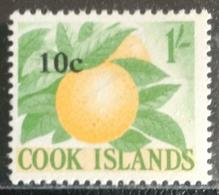 126.COOK ISLANDS (1/-) STAMP FRUITS OVERPRINT 10C . MNH - Islas Cook
