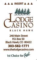 The Lodge Casino Black Hawk CO Hotel Room Key Card - Reverse Right Side Up - Cartas De Hotels