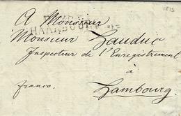 1813-P.128.P. / HAARBURG ( Les Bouches De L'Elbe ) 47 Mm  Black To Hambourg - Marcophilie (Lettres)