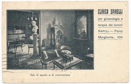 Napoli - Clinica Spinelli Per Ginecologia E Terapia Dei Tumori. Utilizzato Per Posta Nel 1928, Messaggio Digitato - Napoli (Naples)
