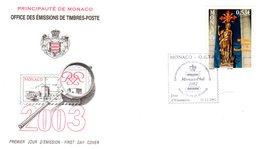""""""" MARTYR DE SAINT GEORGES """" Sur Enveloppe 1er Jour De MONACO De 2002. FDC - FDC"""