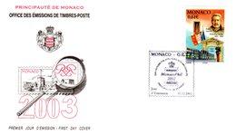 """"""" PRINCE LOUIS II """" Sur Enveloppe 1er Jour De MONACO De 2002. FDC - FDC"""