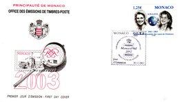 """ 40 ANS DE L'A.M.A.D.E "" Sur Enveloppe 1er Jour De MONACO De 2002. N° YT 2379. FDC - FDC"