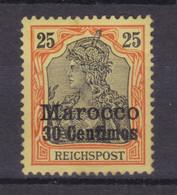 Germania 25 Pfg. Mit Aufdruck Marocco 30 Centimes, ** - Offices: Morocco