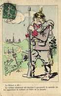 Satirique G Gaillard Le Kaiser A Dit :Le Soldat Allemand Est Destiné à Parcourir Le Monde Lui Apportant La Culture Et - Patriotiques