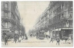 Paris Tramway Rue D' Alésia Prise De L' Avenue D' Orléans - Arrondissement: 14