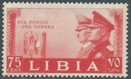 1941 LIBIA FRATELLANZA D'ARMI 75 CENT MNH ** - RB27-2 - Libia