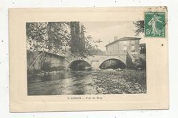 Cp, 09 , SAINT GIRONS ,pont Du BAUP ,voyagée 1910 - Saint Girons