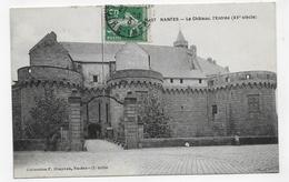 NANTES EN 1913 - LE CHATEAU - L' ENTREE - CPA VOYAGEE - Nantes